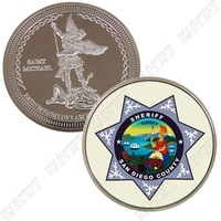 CALIFORNIA SAN DIEGO COUNTY SHERIFF'S DEPARTMENT CHALLENGE COIN ZP479 WHOLESALE RETAIL