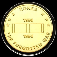 Korea War Memorial 24KT Gold-Plated Challenge Coin 19