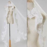 New arrival ts008 high quality stereo car flower lace beautiful excellent lace decoration bride long design veil