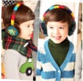 Free shipping(2pcs/lot)Baby earmuffs  Cartoon robot style ear warmer Popular new style ear caps(China (Mainland))
