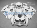 All white FOR suzuki GSXR 600 750 K8 2008 2009 2010 GSXR600 08 09 10 gsxr750 fairing kit &windscreen