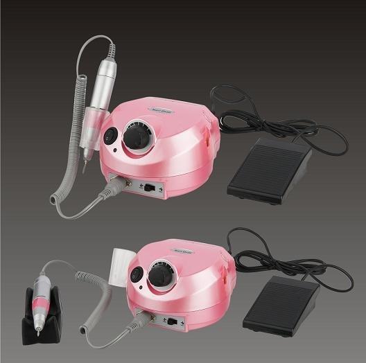Free shipping 2 pcs/ lot Silver / pink 35000 rpm nail drill electric nail files machine(China (Mainland))