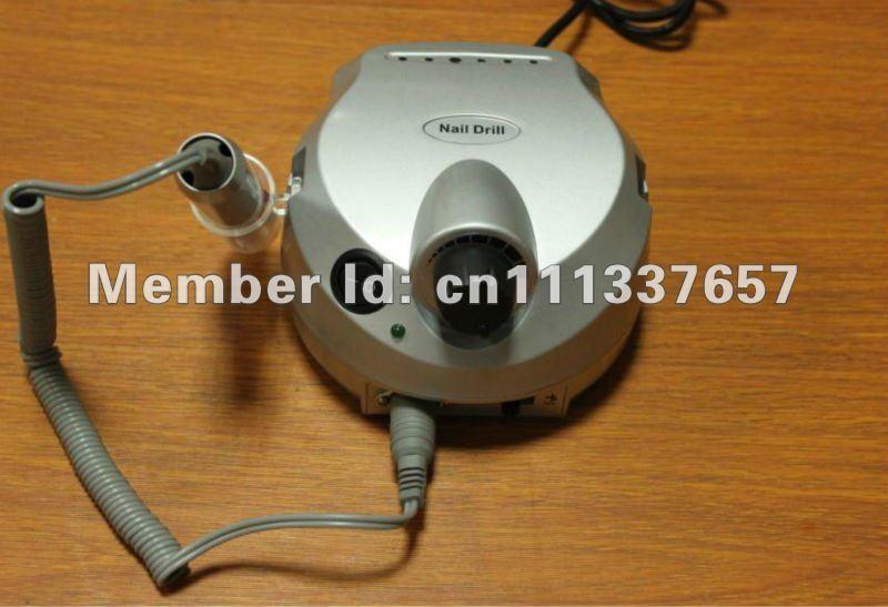 Free shipping 4pcs/ lot Silver / pink 35000 rpm Electric nail files machine Nail drill machine(China (Mainland))