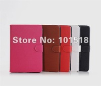 "5pcs/lot&free shipping Lichi Leather Case Cover Skin For Apple Ipad MINI 7""tablet"