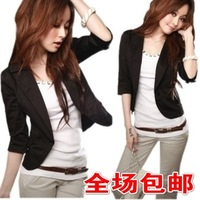 2012 Newest Style blazer women - Office Lady Three Quarter Sleeve Suit Blazer jacket-suit women ladies's coat - Free Shipping
