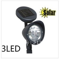 Free Shipping for Outdoor Garden 3 LED Solar Spot Flood Landscape Light, Yard Lamp, Home Garden! New! Hot! Hot!