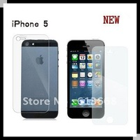 2013 New for for iphone 5 iphone 5S clear Screen Protector Front and back Full body For iphone5s film guard no Retail Package