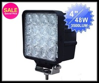 "Cheaper price!!!4"" 48W Tractor Offroad LED work Light,Working Lamp,Fog Light Kit /4x4 off road boat light 12V&24V//48w car light"