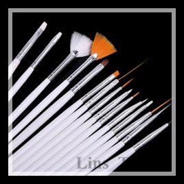 Free shipping New 15PCS/Set professinal makeup nail brush tools design painting pen 3d art #8177