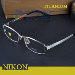 Promotion Titanium optical frame high quality Branded spectacle frame Full rim optical eyeglass frame for men Free shipping(China (Mainland))