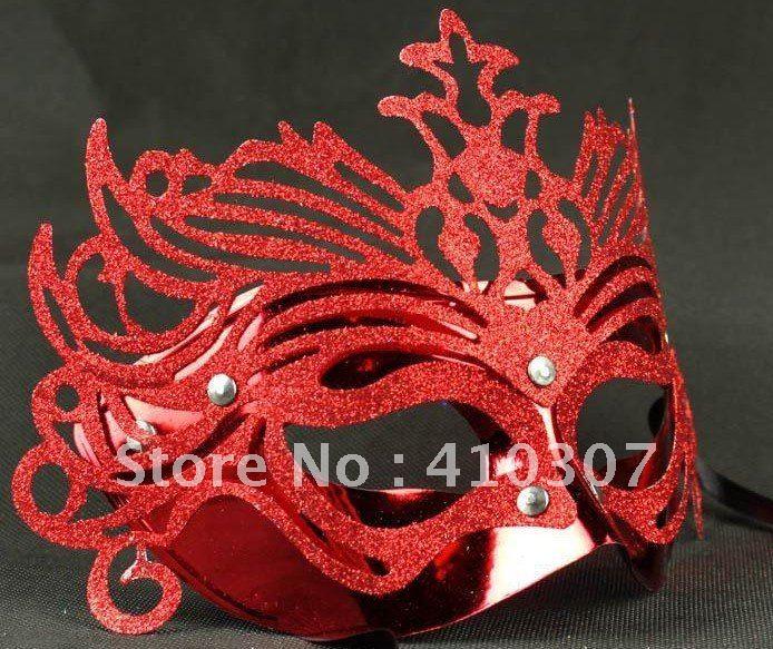 colorido halloween máscara masquerade partido coroa veneziano natal meia máscara facial máscara flor fatia venda quente 200 pces freeshipping(China (Mainland))