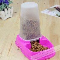 New arrival automatic pet feeder single the base pet bowl dog bowl cat bowl,color random