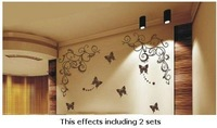 3D Wall Sticker Wall Paster/Room Sticker/Home Decorative Poster 1 Set=1 Vine+3 Butterfly 115573#