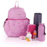 Retail Fashion brand Colorland multi baby diaper backpack 4pcs/set bag mommy mummy diaper bags for mother maternity nappy bag