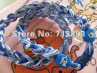 "3 ropes Tornado Braid Tornado football Duke Blue Devils  Texas Longhorns  necklaces 18"" 20"" 22"" Only necklace ,no box"