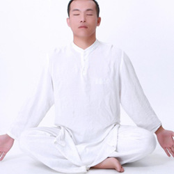 Free Shipping Quality cotton autumn and winter Men male loose yoga clothes yoga set n1001(China (Mainland))