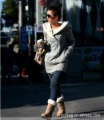High quality fluff cotton women sweatshirts hooded outerwear size L