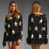 [SEKKES] Fashion Pullover Knitwear Sweater Women Star Knitwear Shrug  SWT025