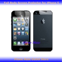 Free Shipping Full Body High Clear Screen Protector For iPhone 5 5G iphone5 Front and Back 1000pcs/lot