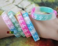 Color reggae punk hiphop skateboard hip-hop notes bracelet hand ring