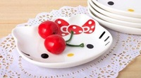 free shipping 1pc Hello kitty sauce dish ceramic porcelain dishes small plates cartoon dishware