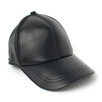 Free Shipping Sheepskin hat genuine leather hat baseball cap adjustable