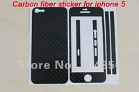 Carbon Fiber Sticker For Iphone 5 Full-body sticker For iphone 5 via free shipping 20pcs/lot