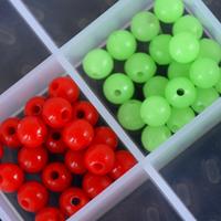 Lure luminous red beads 5mm 20pcs/bag fishing tackle
