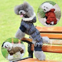 dog split cotton-padded jacket pet clothes dog trousers