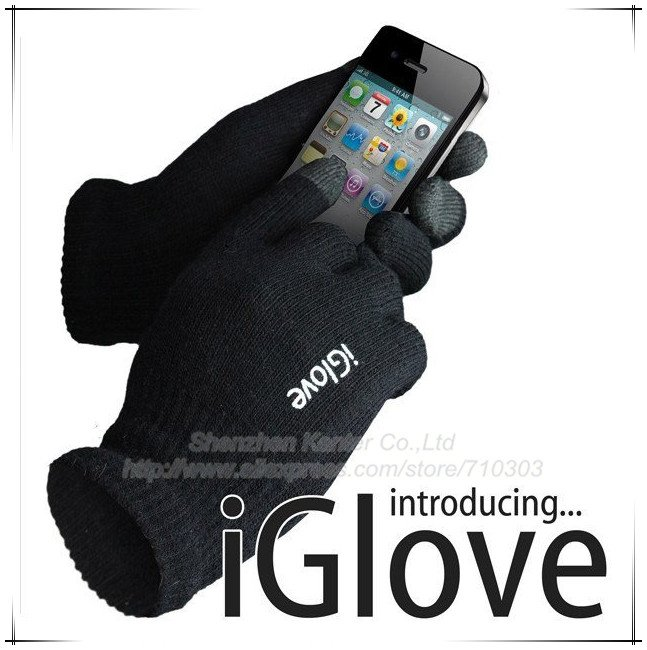 IGlove Touch Screen gloves Unisex Winter for Iphone touch glove 2 colors without retailing box, free shipping 20pcs/lot(China (Mainland))