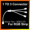 Wholesale 1 to 3 LED Female RGB strip Connector Cable