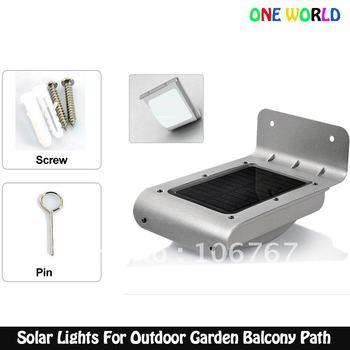 PIR Sensor Solar Lamp 16 LED solar outdoor wall lights waterproo Garden Yard Lighting For Outdoor