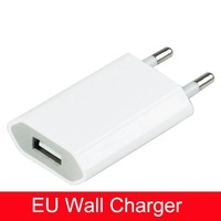 White EU Plug USB Travel Charger AC Adapter for Apple iPhone 4 4G 4S, Free Shipping 5 PCS/LOT