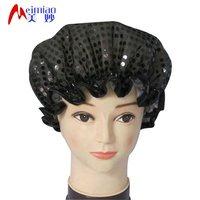 Luxury fashion shower cap in black