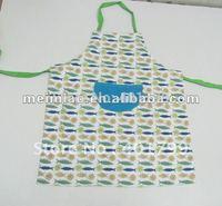 cotton twill Fabric printed apron