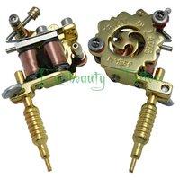 Free shipping  Golden Colour mini tattoo machine gun supply as nacklace wholesale price