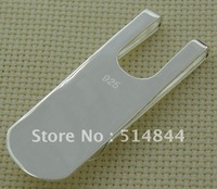 MP8006  Free Shipping Silver Plated  Money Clip , Economic, High Quality, Wholesale & Retail, Charmhouse Accept Mix Order