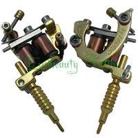 Golden Color  free shipping mini tattoo machine gun supply kit for wholesale price .