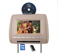 Car Headest DVD Player(2 pcs DVD) Support FM and IR transmission,Games with Controller,USB/SD