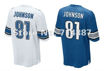 Retail,EMS Free Shipping,12/13 Detroit #81 Calvin Johnson American football Jerseys ,Size 40-56,(Can Mix jerseys)