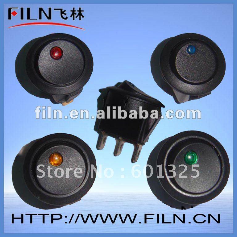 3 pin de control de punto de luz led del eje de balancíninterruptor 12v