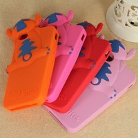 Wholesale Silicone Protective Back Stitch 3D Character Case for iPhone 5 5th 5G, 50pcs/Lot EMS/DHL Freeshipping