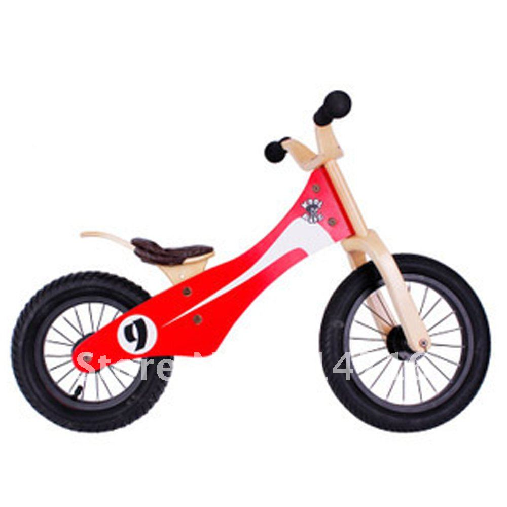 Free shipping Wooden Toys Balance Bike for Kids(China (Mainland))