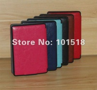 20pcs/lot Free shipping Shine PU Leather Case Cover Pouch Stand For Amazon Touch  Kindle Paperwhite 3G