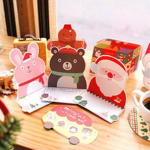 Free ship!10set!Super popular Christmas Greeting Card / New Year Card Set / 10 into / Merry Christmas(China (Mainland))