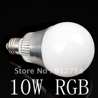 sample free shipping AC 85-265V changeable color RGB 10W E27 E14 B22 led Bulb with IR Remote Control lamp 900lumens