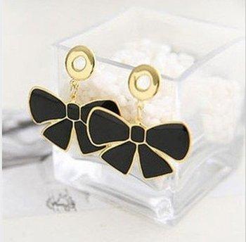 Min Order 15USD  Vintage Generous Bowknot Earrings Fashion Jewelry D03103