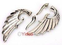 New Arrival 4pcs Punk Gothic Style Silver Wing Stud Cuff Pierced Earrings Ear-hook 261210