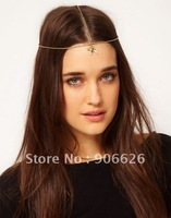 Free Shipping & Wholesale vintage AS PUNK cool silver & gold swallow hairband hair accessory 15pcs/lot