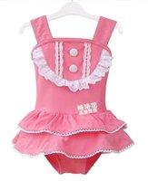 YY-105, 5sets/lot new arrive girl barbie skirt swimsuit sets pink baby girl swimwear set bikini+hat children beachwear wholesale